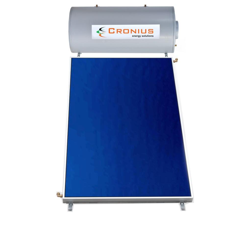 Ηλιακός Cronius ECO 80 λίτρα με 1,5τμ επιλεκτικό συλλέκτη