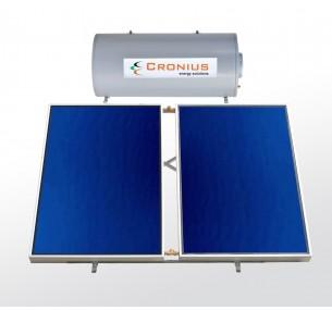 Ηλιακός Cronius ECO 160 λίτρα με 3,00τμ επιλεκτικούς συλλέκτες