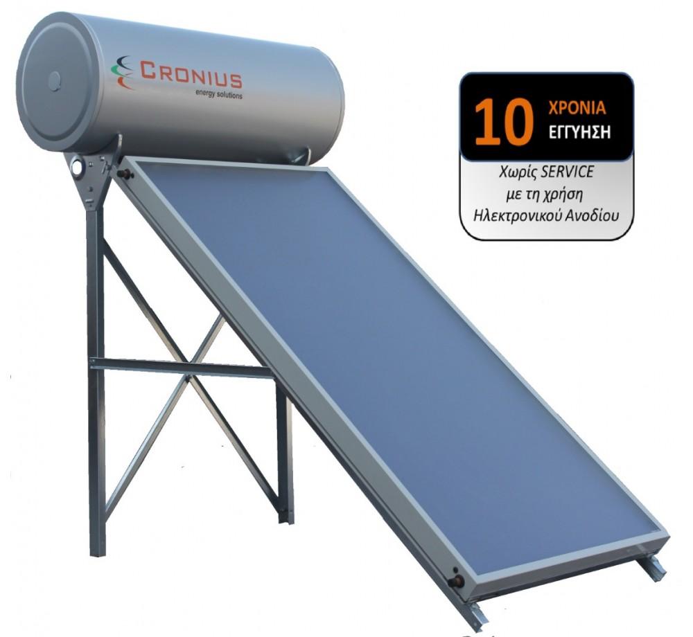 Ηλιακός Cronius PRO 160 λίτρα με 2,12τμ επιλεκτικό συλλέκτη
