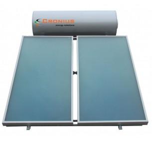 Ηλιακός Cronius INOX 200 λίτρα με 3,00 τμ επιλεκτικούς συλλέκτες